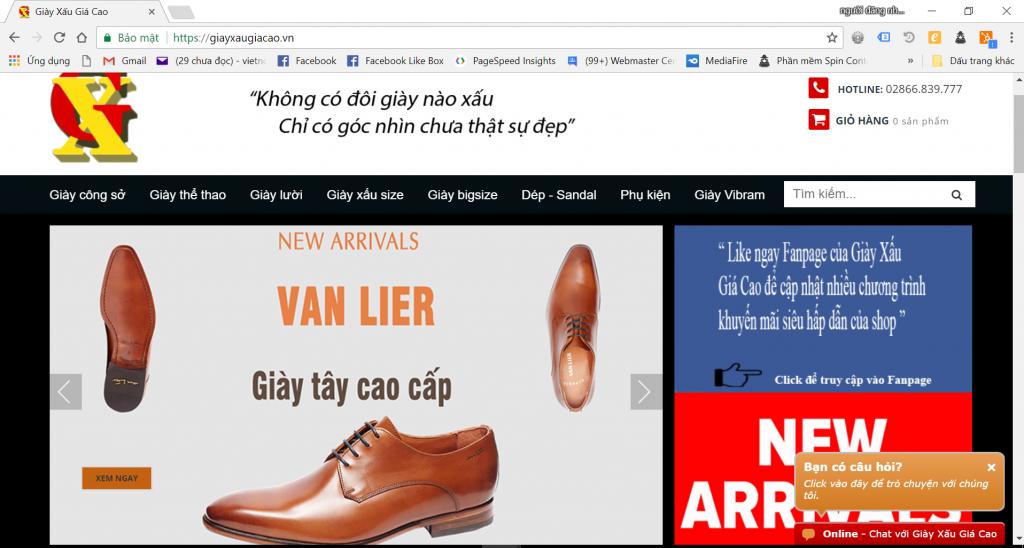 vì sao cần thiết kế website giày dép