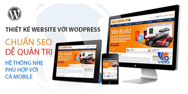 thiết kế web wordpress chuyên nghiệp